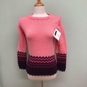 Louet | Women's Colour Block Sweater | Pink